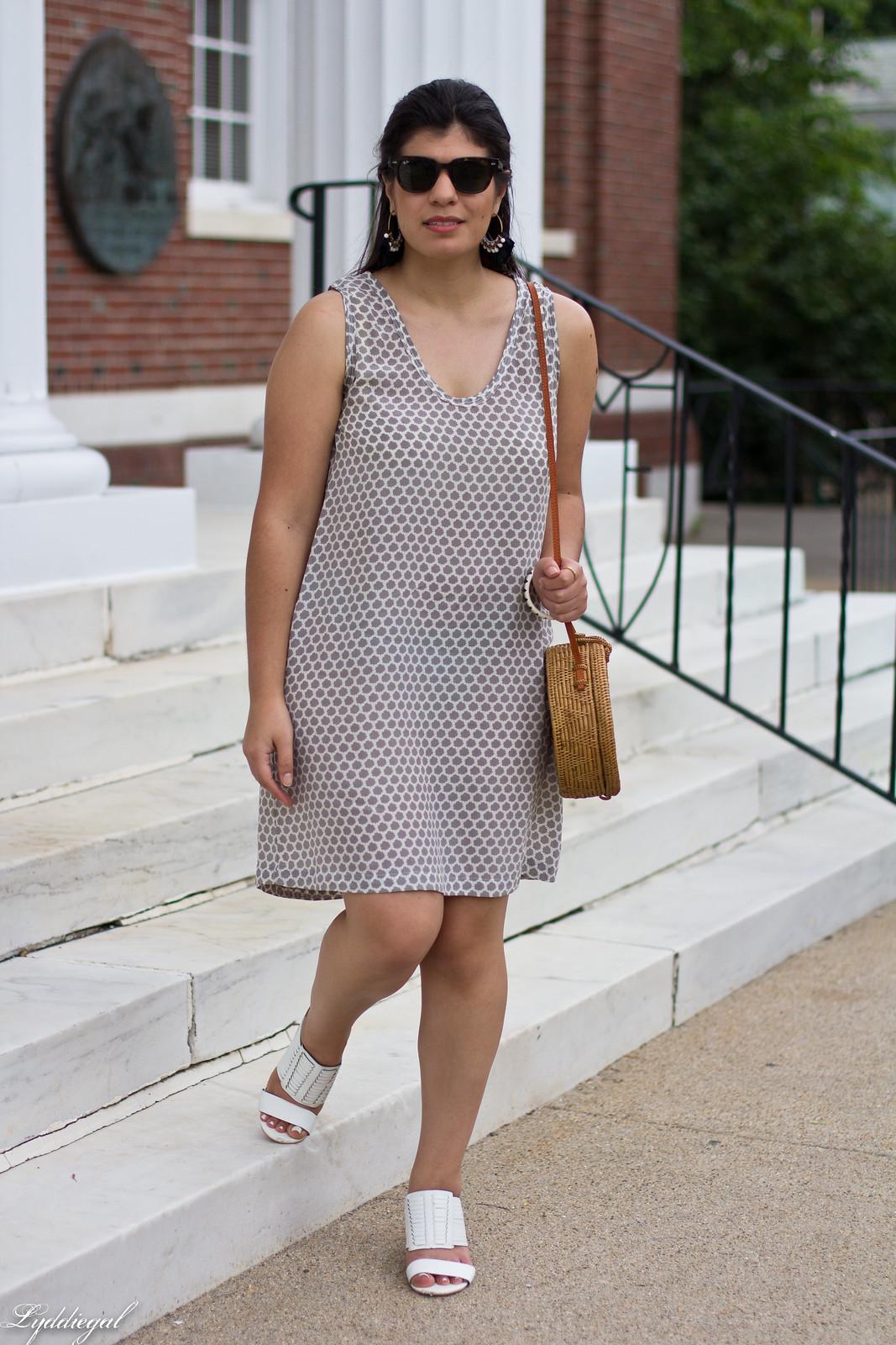joie cloudburst dress, round straw bag, statement earrings-2.jpg
