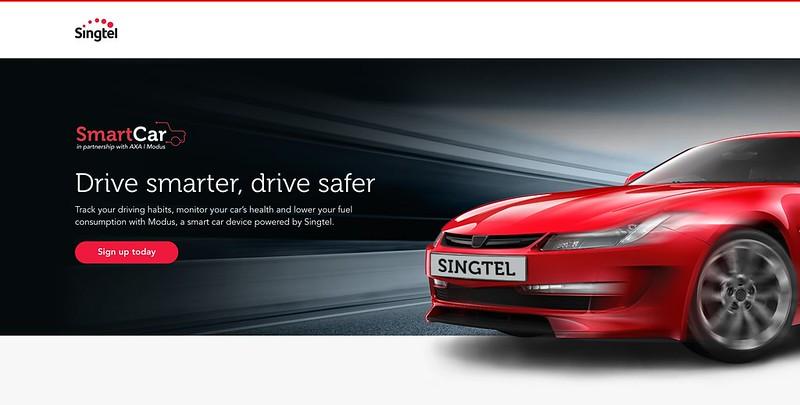 Singtel Smart Car - Landing Page