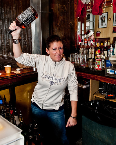 Angry Barmaid at Jamian's Bar, Red Bank, New Jersey