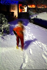 lunatic nick ran outside in the snow with BARE FEET …