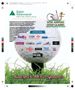 Charity Golf Tournament Magazine Ad