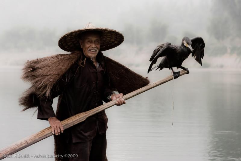 Li River Cormorant Fisherman, Yangshuo by Adventurocity