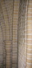 Murværk i Sædder Kirkes sideskib - detalje