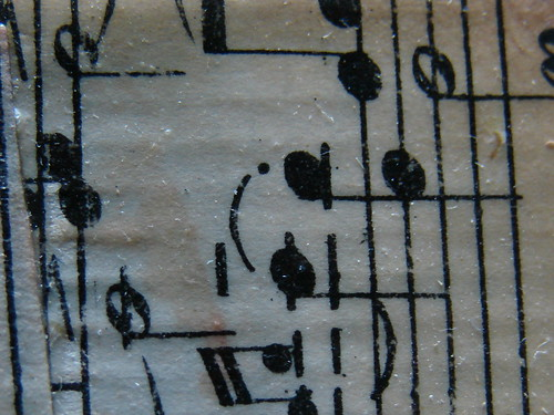 Music Notes~ Section of an ATC I made