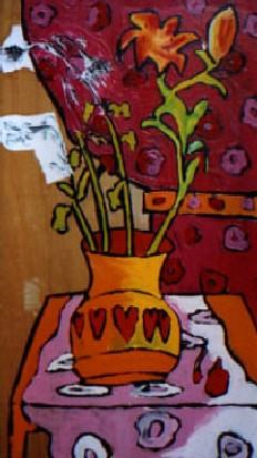gambar lakaran bunga
