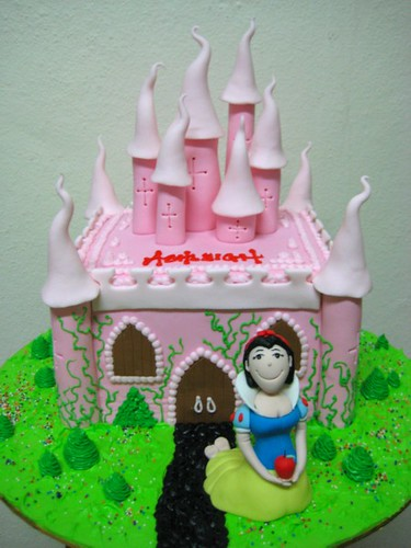 snow white and the pink castle
