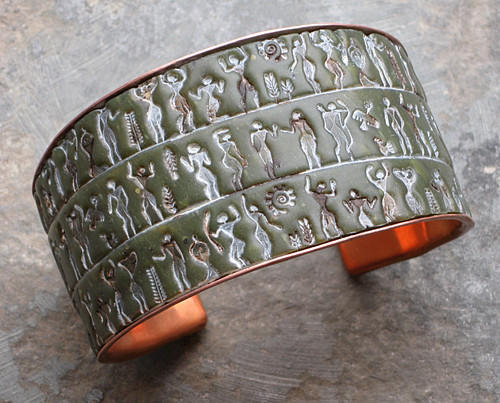 Ancient Peoples cuff polymer clay