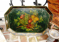 Antique Painted Tole Tray