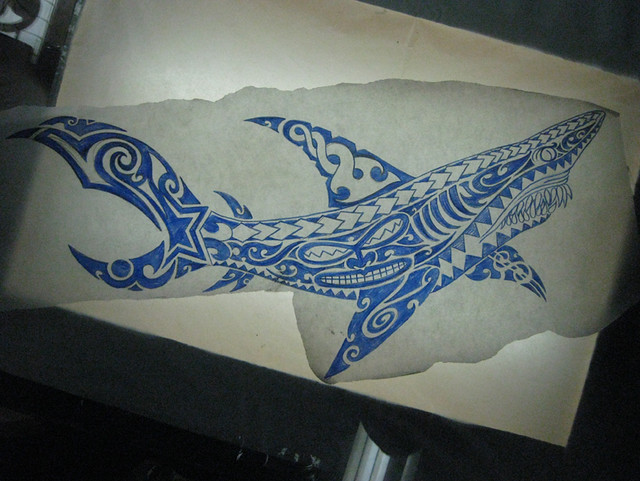 Kirituhi Polynesian Shark Tattoo Design Flickr Photo Sharing