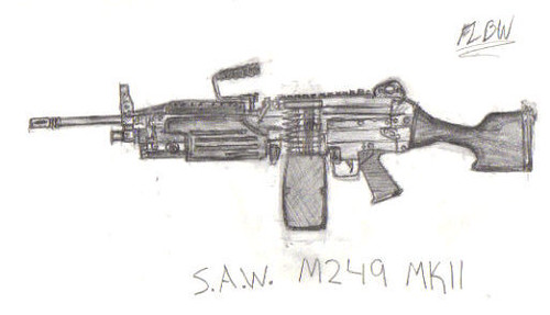 SAW M249 MKII Drawing ...
