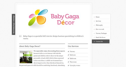 Baby Gaga Decor Xhtml Website Nick Benson Flickr