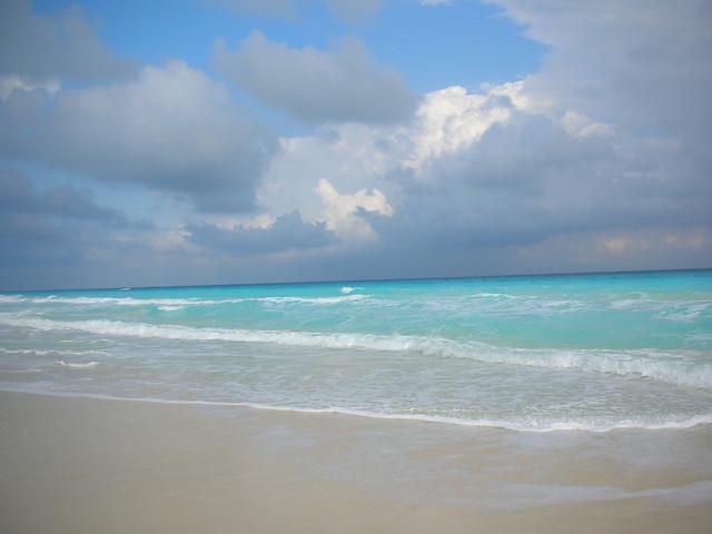 El azul del mar y del cielo