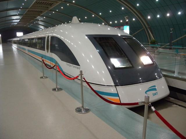 Shanghai Maglev Train by flickr user zieak