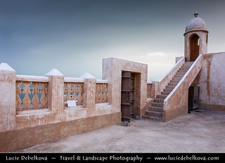 Qatar - Magic Light over Traditional Mosque in Al Wakrah