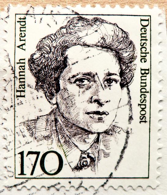 great stamp Germany 170pf. (Hannah Arendt, 14th October 1906 - 4th Dec. 1975) portrait philosopher philosoph germany stamp postes timbres allemagne 德意志 Déyìzhì Германия franco porto francobollo Germany bolli selo Alemanha sellos BRD Deutschland Briefmarke