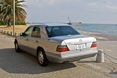 mercedes-benz w201(0.0), automobile(1.0), automotive exterior(1.0), executive car(1.0), vehicle(1.0), mercedes-benz w124(1.0), mercedes-benz(1.0), full-size car(1.0), mid-size car(1.0), compact car(1.0), mercedes-benz 500e(1.0), sedan(1.0), land vehicle(1.0), luxury vehicle(1.0),