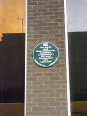 Photo of Arnold Bennett and Henry Earlforward green plaque
