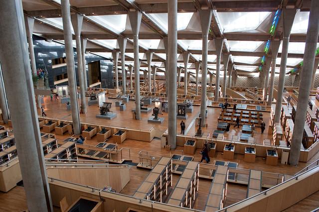Bibliotheca Alexandrina, Alejandría, Egipto.