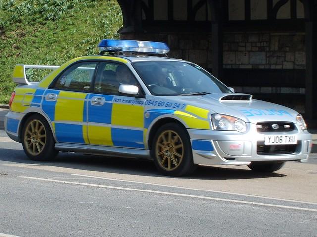 Yj06 Txu North Yorkshire Police Subaru Impreza Turbo