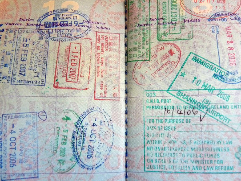 Us Passport With Stamps