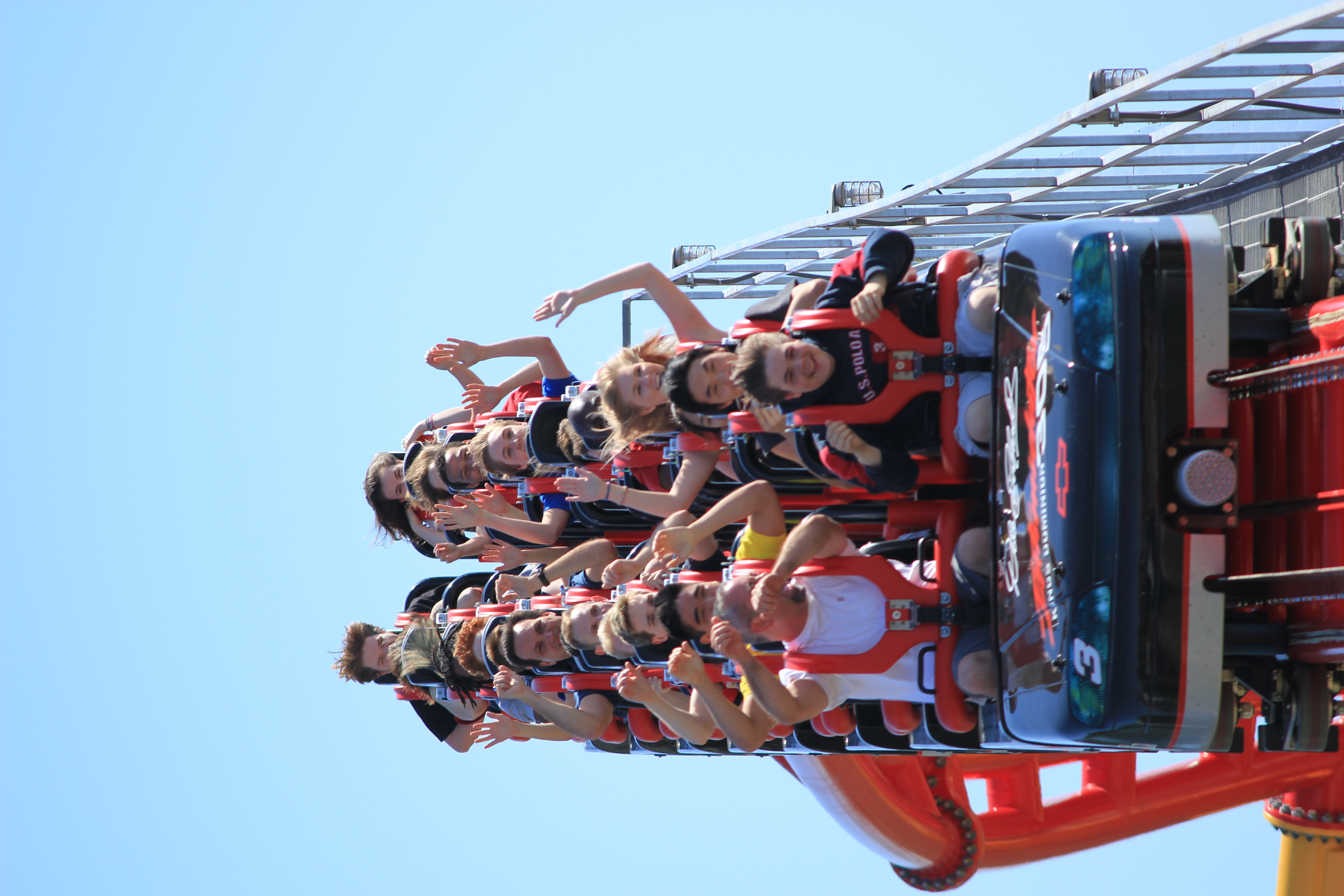 Intimidator 305 train at end of track | Flickr - Photo ...