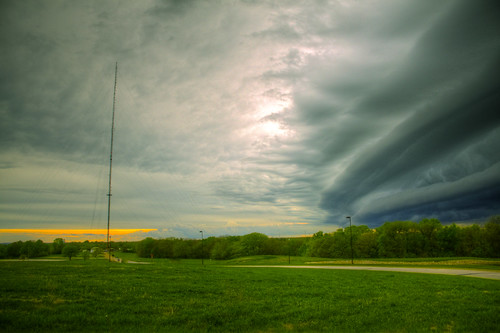 sunset cloud storm strange grass day kansas unusual hdr