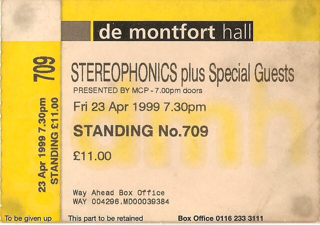 stereophonics de montfort hall leicester 23rd april 19