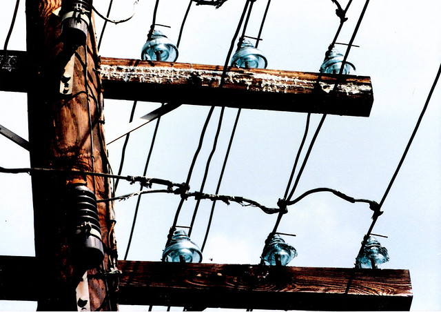 transmission lines and glass insulators flickr photo