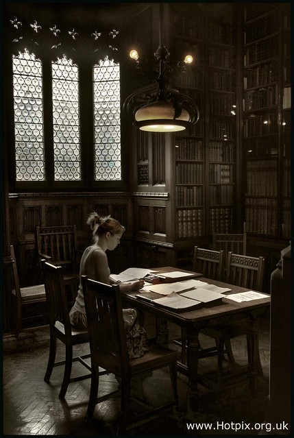Reader In The John Rylands Library, Manchester UK