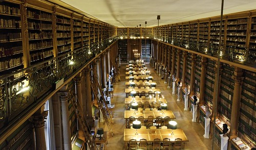 Salle de lecture Bibliothèque Mazarine depuis galerie