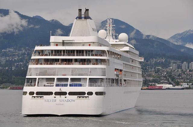 Silver Shadow Italian Cruise Ship Departing Vancouver