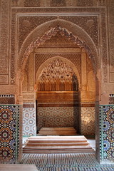 Intricately-Patterned Archways at the Saadian Tombs