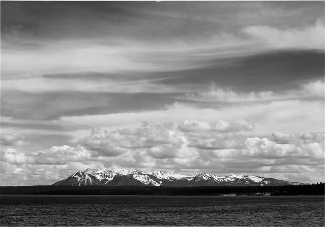Yellowstone Lake, Mt. Sheridan, Ansel Adams