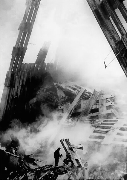 Debris with Man, by Yoni Brook