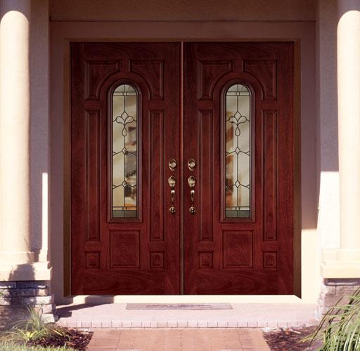 Feather River Door Fiberglass Entry Doors - Mahogany Double Doors & Feather River Door Fiberglass Entry Doors - Mahogany Double Doors ... pezcame.com