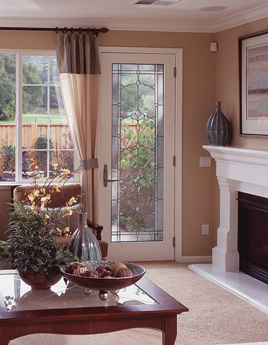 Feather river door fiberglass patio doors smooth white for Fiberglass patio doors