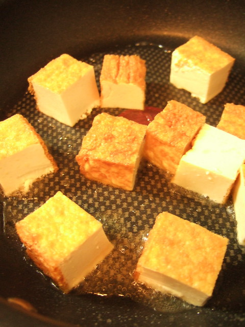 garlic deep-fried tofu