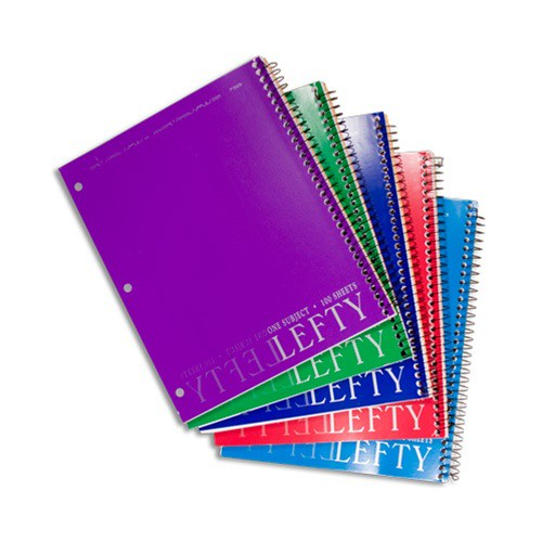 """8"""" X 10.5"""" Left-Handed Wide-Ruled Spiral Noteboo…"""