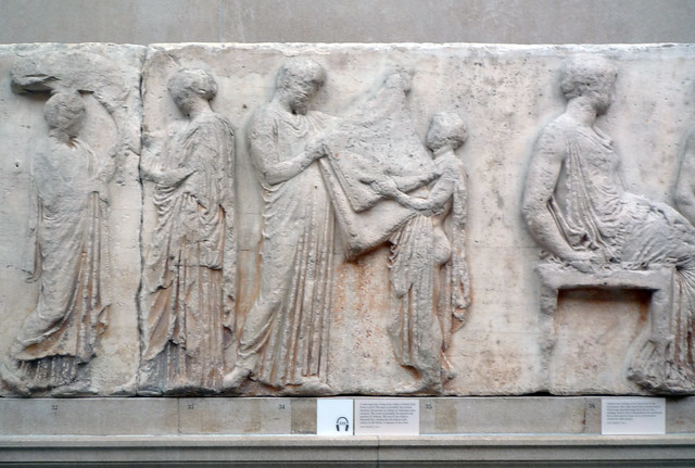 Parthenon, East Frieze, Slab 5, (Peplos Scenes) | Phidias ...