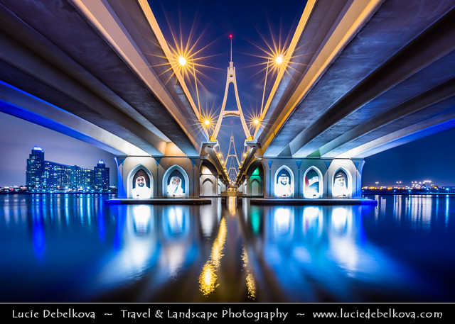 United Arab Emirates - UAE - Dubai - Ras Al Khor Bridge at Night