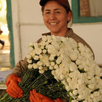 Mery and Her Flowers - Outside Cochabamba, Bolivia