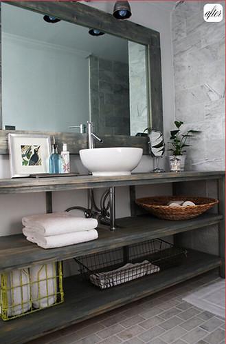 diy double vanity on pinterest zinc countertops
