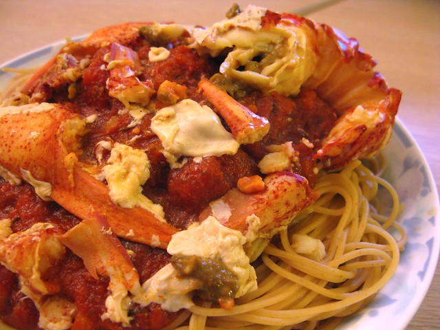Homemade spicy lobster pasta flickr photo sharing for How to make lobster pasta