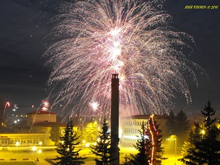 Fireworks in the first seconds in 2010
