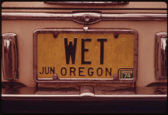 License plate by David Falconer Oregon for Documerica