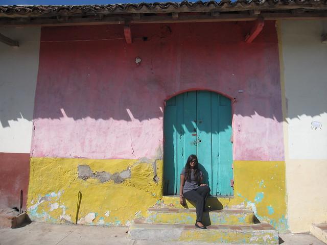 A colorful doorway in Granada