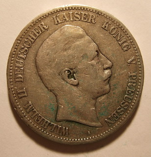 GERMANY, KAISER WILHELM II, 1900 ---5 MARKS b