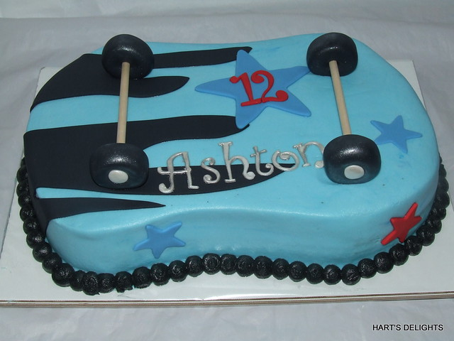 Remarkable Skateboard Birthday Cake Debbie Flickr Funny Birthday Cards Online Elaedamsfinfo