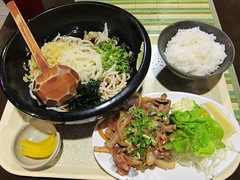 noodle, meal, lunch, steamed rice, tonkatsu, bibimbap, food, dish, soup, cuisine, soba, nabemono,