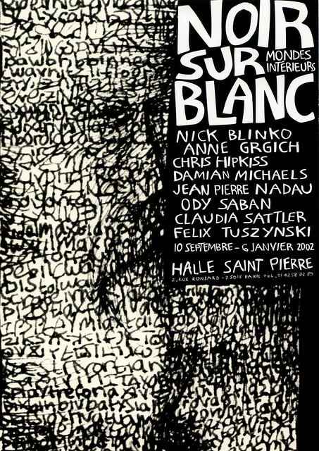 Blanc, Mondes Interieurs, exhibition invitation card (front) 2001/02
